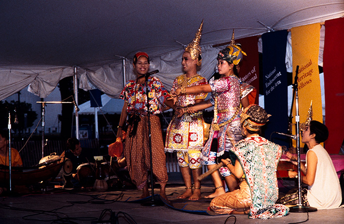 A <em>khon</em> dance performance at the 1994 Thailand program. Photo by Jeff Tinsley, Ralph Rinzler Folklife Archives