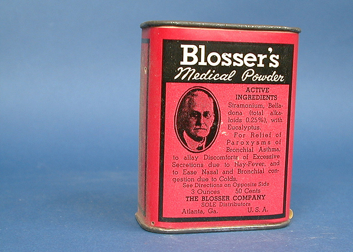Blosser's Medical Powder, containing, among other herbs, belladonna.