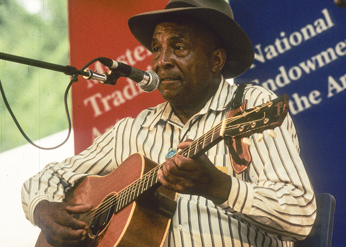 John Jackson performing the 1994 Smithsonian Folklife Festival. Photo by Jeff Tinsley, Ralph Rinzler Folklife Archives