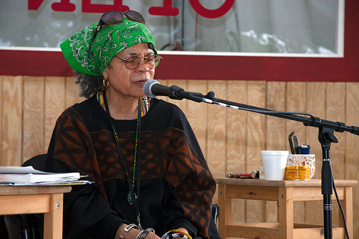 Poet Sonia Sanchez at the 2009 Folklife Festival. Photo by John Loggins, Ralph Rinzler Folklife Archives