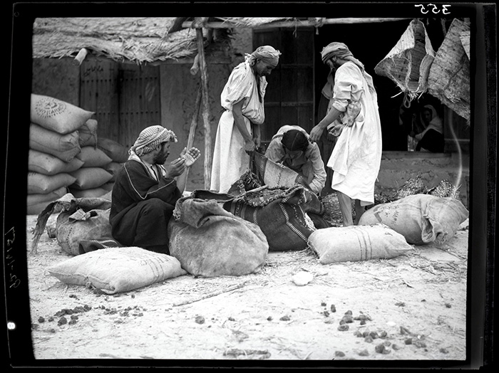 A date market in Jubail, Saudi Arabia, c. 1935. Photo by Joseph D. Mountain, courtesy National Air and Space Museum