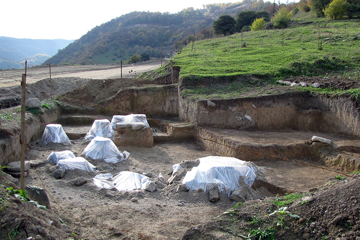 Excavations in Shnogh, Lori Province, in 2009 revealed a thirteenth century winery. Photo courtesy of Dr. Suren Hobosyan