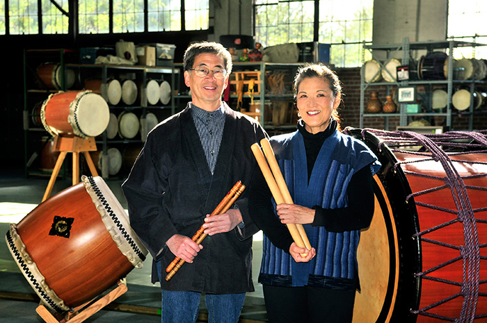 Roy (left) and PJ Hirabayashi, 2011 NEA National Heritage Fellows. Photo by Tom Pich, National Endowment for the Arts