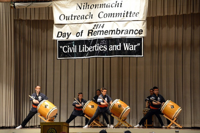 San Jose Taiko performs at the 2014 Day of Remembrance. Photo courtesy of San Jose Taiko