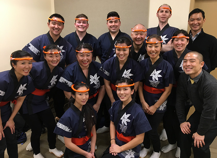 San Jose Taiko poses at the 2017 Day of Remembrance. Photo courtesy of San Jose Taiko