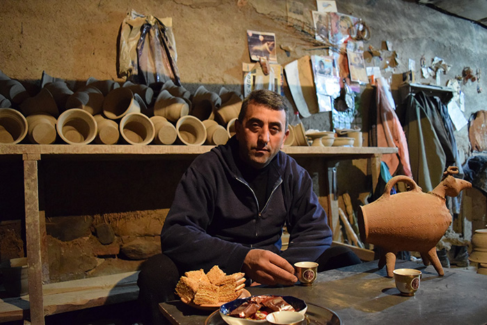 Serioj Asatryan is the last ceramicist in Yuva, a village historically tied to ceramics and pottery making for its region's excellent clay deposits. Photo by Karine Vann, Smithsonian